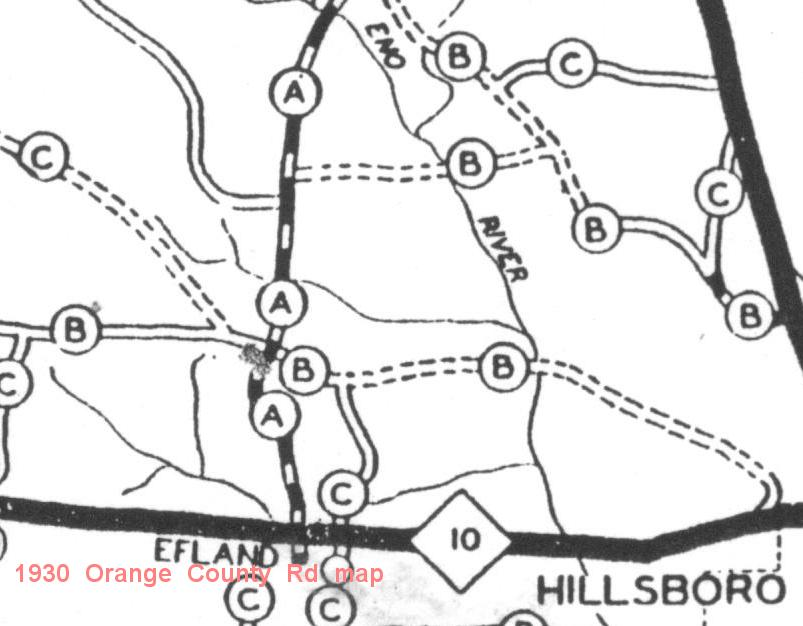 1930 Orange County road map